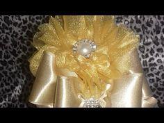 Tiara flor carinha de anjo com laço - YouTube
