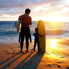 Have a surf day with dad
