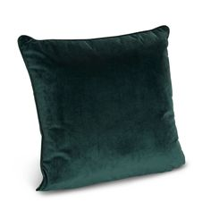 Teegan Velvet Green Cushion | Departments | DIY at B&Q