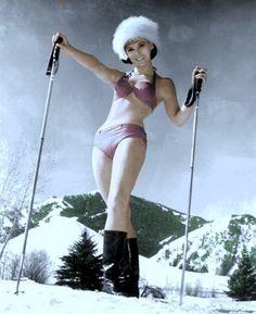 Vintage Ski Bunny