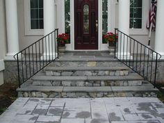 Virginia Railing and Gates: Porch Handrails and Railings Outside Handrails, Porch Handrails, Front Porch Railings, Virginia, Stairs, Backyard, Iron, Exterior, Classic