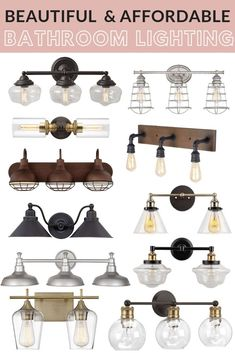 Get the Fixer Upper look with our favorite affordable Farmhouse Style Bathroom L. - Get the Fixer Upper look with our favorite affordable Farmhouse Style Bathroom Lighting! Vintage Bathroom Lighting, Bathroom Light Fixtures, Bathroom Styling, Bathroom Interior Design, Bathroom Vintage, Vintage Lighting, Kitchen Fixtures, Bathroom Ideas, Industrial Bathroom Lighting