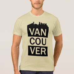 Men's t-shirt with Vancouver lettering - white gifts elegant diy gift ideas