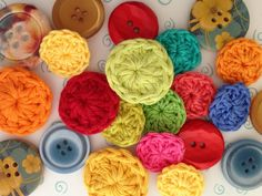 How to Crochet Buttons in Minutes