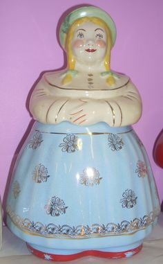 vintage Shawnee Cooky Dutch Girl  cookie jar  on Collectors Quest