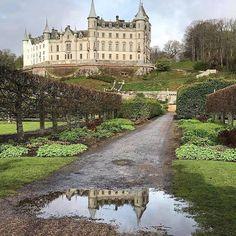 The lane to Dunrobin Castle, Scotland