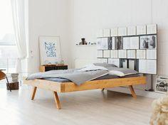 Bett mit Bücherwand selber bauen