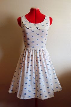 Bluebird Dress with peter pan collar $150 (I'm making dresses now!)