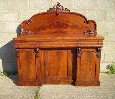 ANTIQUE FURNITURE WAREHOUSE - Antique Victorian Mahogany Sideboard - Victorian…