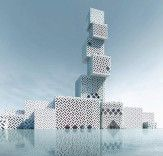 Unique Cube Tower will rise like a stack of patterned blocks in China