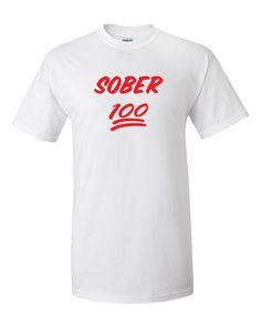 SOBER 100 Red Men's Gildan T-shirt