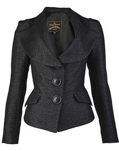 Grey Tweed Fitted Jacket, Vivienne Westwood Anlogmania, size: 10