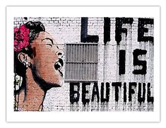 Banksy-Life is Beautiful Banksy Street Wall pictures Street Art paintings for living room posters and prints on Canvas graffiti * Pub Date: Feb 17 2017 Banksy Graffiti, Graffiti Canvas Art, Banksy Canvas Prints, Bansky, Art Prints, Banksy Artwork, Poster Prints, Graffiti Artists, Graffiti Lettering