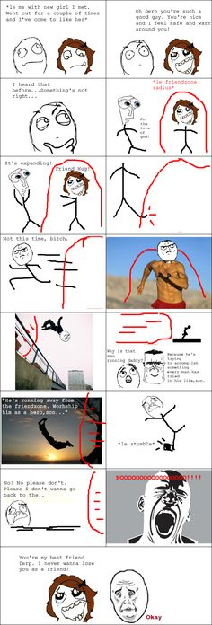 Rage Comics: Facing the impossible: A hero's tale (Friendzoning)