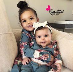 Graylee & Nola • African American & Italian ♥️♥️   FOLLOW @BEAUTIFULMIXEDKIDS http://instagram.com/beautifulmixedkids