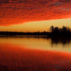 Sunrise on Woman Lake
