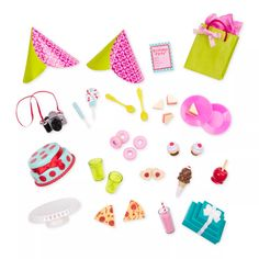 Throw the perfect party with the R.Me Party Planning Set from Our Generation, featuring miniature dollhouse food, plates, party decorations, and more! Our Generation Doll Accessories, Our Generation Dolls, Og Dolls, Girl Dolls, Mini Things, Party Accessories, Accessories Online, Toys For Girls, Party Planning