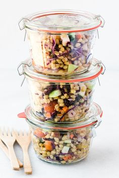 Instant Pot Wheat Berry Salad | The View from Great Island Wheat Berry Recipes, Wheat Berry Salad, Grain Salad, Healthy Salad Recipes, Real Food Recipes, Clean Recipes, Healthy Eats, Rye Berries, Berry Tart