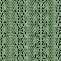 Parallel Lace Panel knitting stitch. More Great Patterns Like This