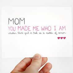 Mother birthday mom birthday funny birthday card silly funny for the mom who made you who you are bookmarktalkfo Choice Image
