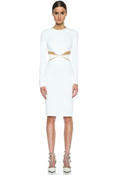 Cushnie et Ochs|Oscar Jersey Dress in Ivory [1]