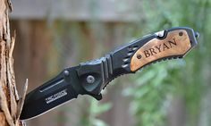 Custom Engraved Assisted Opening Tactical Rescue Knife - Kustom Products Inc
