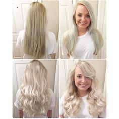 This client went to someone else originally and he never understood what she wanted, says Marcus Byerly ( of Studio Knoxville, Tennessee. She wants to be a super cool icy blonde. Blonde Gif, Icy Blonde, Balayage Hair Blonde, Platinum Blonde, Brunette Hair, Blonde Shades, White Blonde, Light Blonde, 2015 Hairstyles