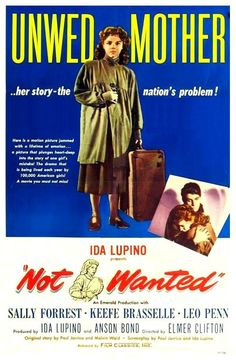Not Wanted 1949 Audrey Farr, Carole Donne, Dorothy Adams, Drama, Elmer Clifton, Keefe Brasselle, Leo Penn, Rita Lupino, Sally Forrest, Wheaton Chambers
