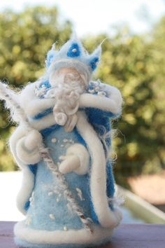 King Winter - an amazing Waldorf inspired needle felted sculpture.  $53.00 from heart'Felt'passion