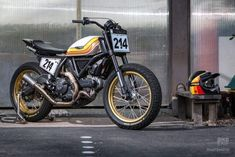 Ducati Scrambler Hooligan racer by Coterie West Ducati Scrambler Custom, Ducati Motorcycles, Cars And Motorcycles, Cx 500, Street Tracker, Custom Bikes, Motorbikes, Honda, Classic Cars