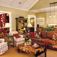The Thrifty Gypsy: great colorful livingroom