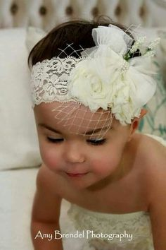 The Pearl- Flower girl Downton Abbey Deco Baby girl newborn toddler shabby chic off white bow feather photo prop headband / this can be an easy DIY -- Baby Girl Baptism, Girl Christening, Baby Girl Newborn, Baby Girls, Diy Baby Headbands, Baby Bows, Lace Headbands, Baby Dedication, Downton Abbey