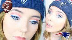 Patriots Makeup | Super Bowl Makeup Idea