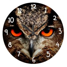 El rojo asustadizo observa el búho de Eagle Reloj