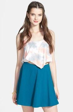 $28, Teal Skater Skirt: Lily White Skater Skirt. Sold by Nordstrom. Click for more info: https://lookastic.com/women/shop_items/112527/redirect