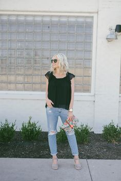 This @Joie top was a total steal from @thredUP. Sharing a code for 40% off your first purchase and 3 reasons to shop #secondhandfirst on LittleMissFearless.com...