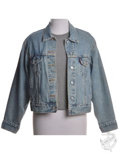 Vintage Denim Jacket Stone Wash With Multiple Pockets | Beyond Retro