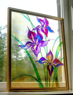 I created this faux stained glass at home using an old thrift store picture frame. It's really easy to try one yourself at home. You can see more details on my blog: http://www.maryhining.blogspot.com/