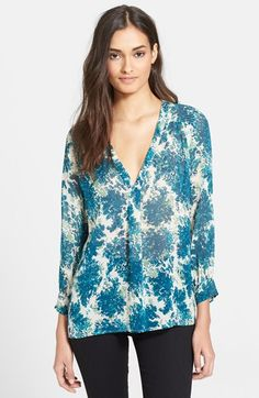 Joie 'Aceline' Print Silk Shirt available at #Nordstrom