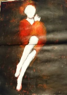 Schets vrouw figuur. Acryl verf.  Women figure painting acrylic.  Artist: liselore gomes art