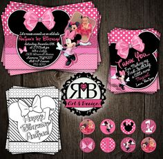 Minnie Mouse 1st Birthday package designed by RMB Art & Design https://www.facebook.com/RMBArtAndDesign/