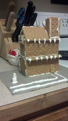 Graham cracker gingerbread house.
