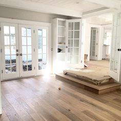 French white oak hardwood floors - pickndecor/home Flooring, House Design, New Homes, White Oak Hardwood Floors, House, Home, Home Renovation, House Flooring, French Doors Interior