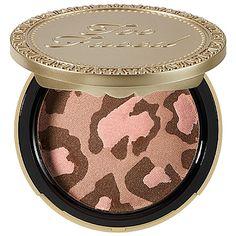Too Faced - Pink Leopard Blushing Bronzer - Pink Leopard - bronze with golden pink shimmer #sephora