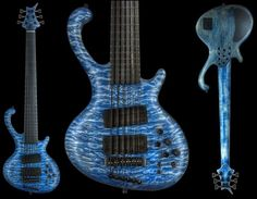 Jens Ritter Roya #1132. 5A Quilted Maple in Flying Blue Finish. Sick!