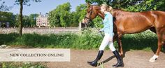 EquiRex pure merino polo and EquiRex competition breeches.