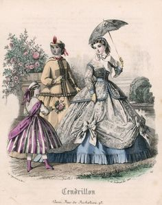 """Fashions for July, 1865. Cendrillon. """