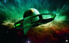 Romulan Warbird Departure by MotoTsume.deviantart.com on @DeviantArt