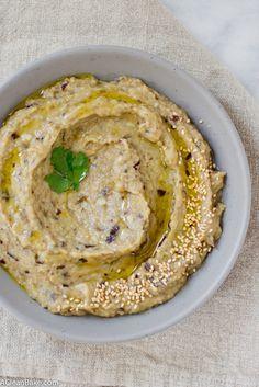 Roasted Garlic Babaganoush (gluten free, grain free, vegan and paleo friendly)