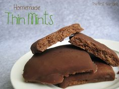 Thin Mints  6 tbsp butter, room temperature  3/4 cup sugar  1 egg  1/2 tsp vanilla  1/2 tsp peppermint extract  4 1/2 tbsp cocoa powder  1 3/4 cup flour (plus more for rolling)  1/4 tsp salt    Preheat the oven to 375 degrees.